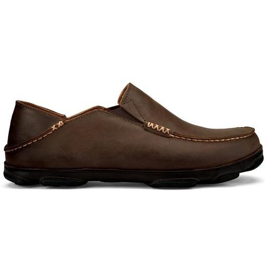 OLUKAI MOLOA MEN'S DARK WOOD/DARK JAVA Shoes Olukai
