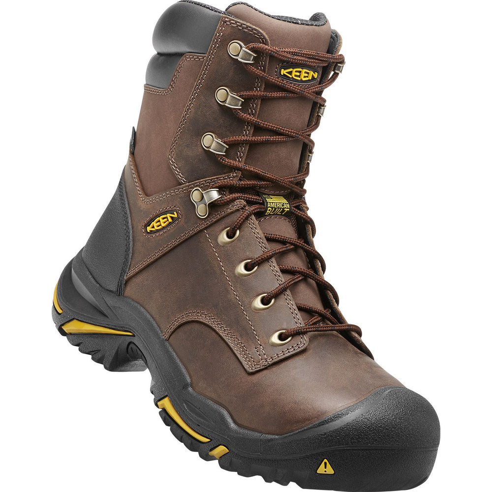 "KEEN MT VERNON 8"" WATERPROOF (STEEL TOE) MEN'S WIDE Boots Keen Work"