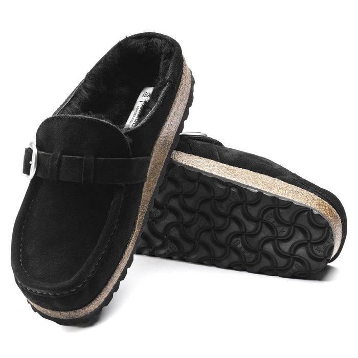 BIRKENSTOCK BUCKLEY SHEARLING WOMEN'S BLACK NARROW Clogs Birkenstock