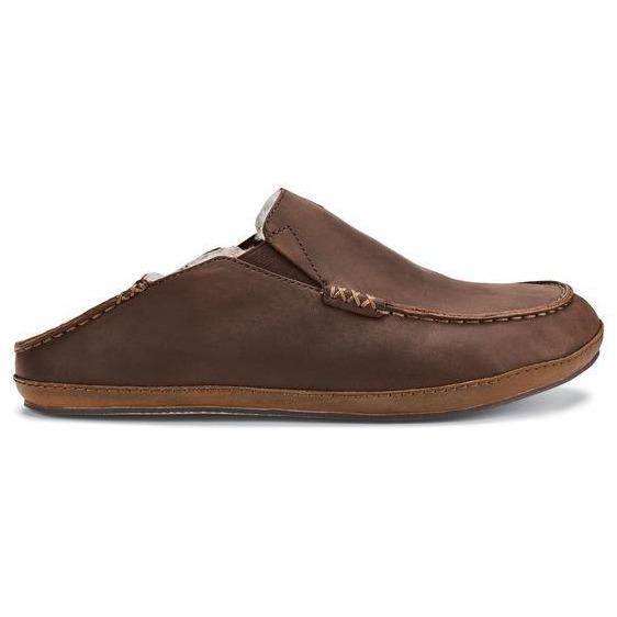OLUKAI MOLOA SLIPPER MEN'S DARK WOOD Slippers Olukai