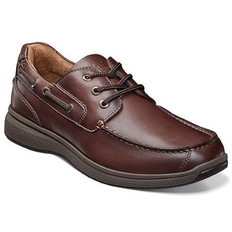 FLORSHEIM GREAT LAKES MOC TOE OXFORD BROWN Shoes Florsheim