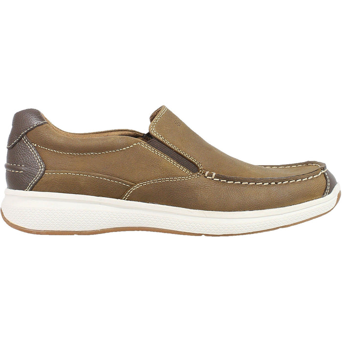 FLORSHEIM GREAT LAKES MOC TOE SLIP ON STONE MEDIUM AND WIDE Shoes Florsheim