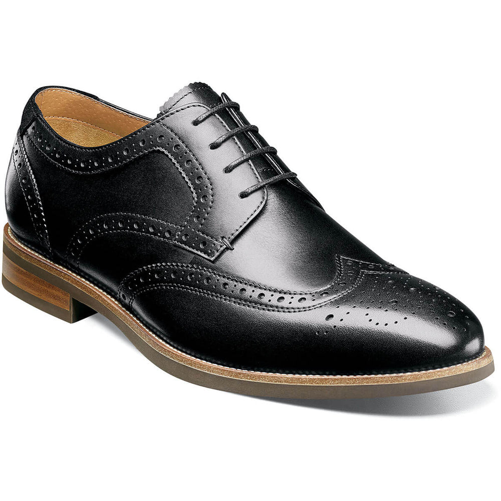 FLORSHEIM UPTOWN WINGTIP OXFORD BLACK Shoes Florsheim