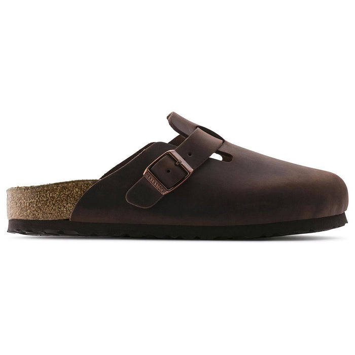 Birkenstock Boston Soft Footbed Habana Oiled Leather Unisex - danformshoesvt