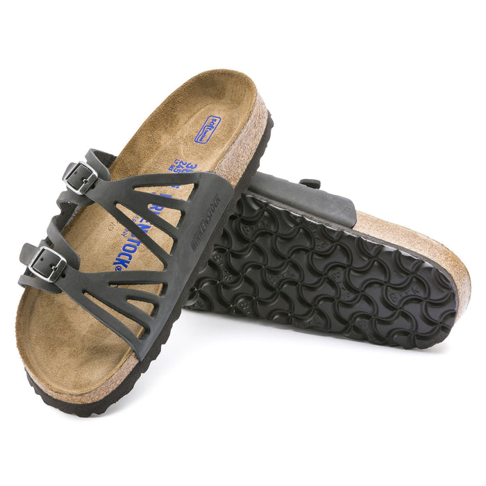 Birkenstock Granada Soft Footbed Black Oiled Leather - danformshoesvt