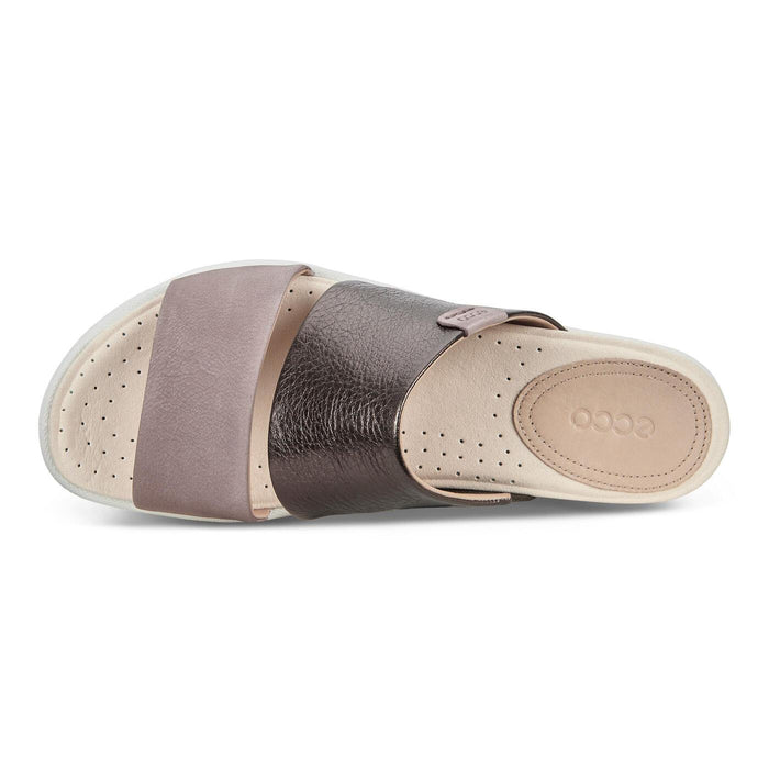 ECCO DAMARA SLIDE SANDAL II LICORICE/DEEP TAUPE - FINAL SALE! WOMEN'S SANDALS ECHO DISCONT