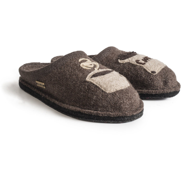 HAFLINGER COFFEE Slippers Haflinger