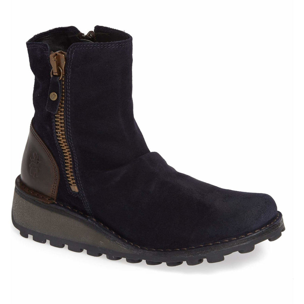 FLY LONDON MONG NAVY/DARK BROWN Boots Fly London