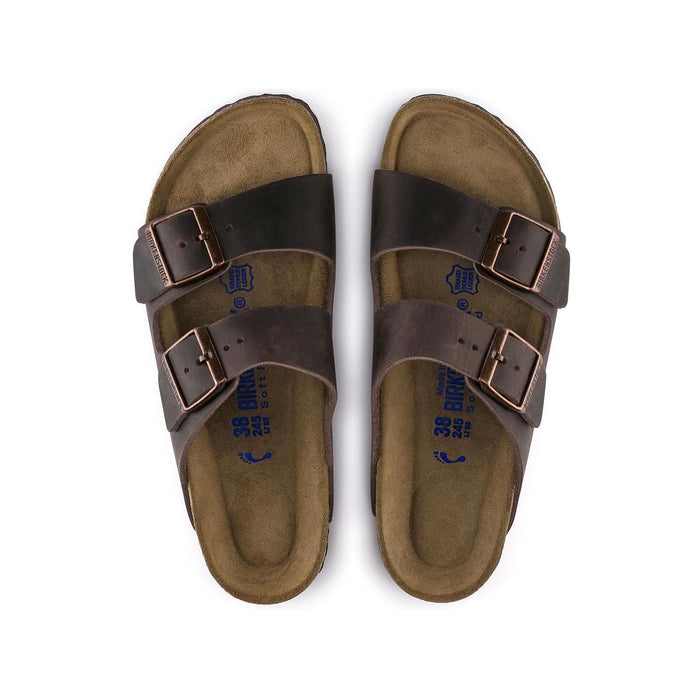Birkenstock Arizona Soft Footbed Habana Oiled Nubuck Leather Unisex - danformshoesvt