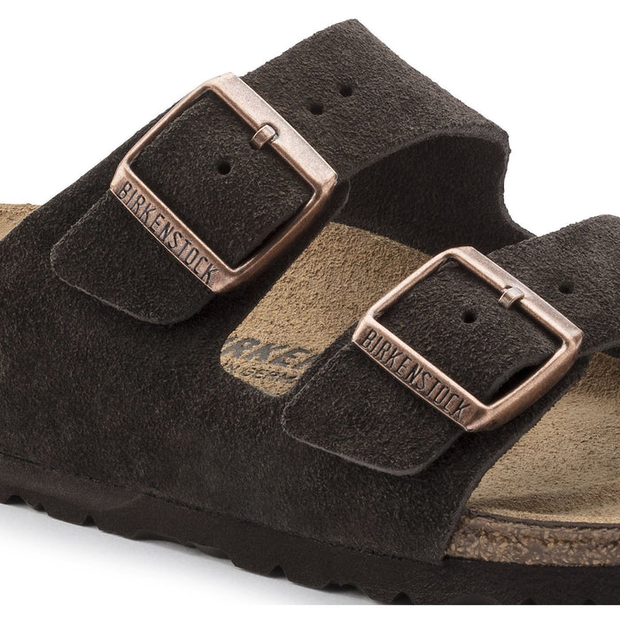 Birkenstock Arizona Mocha Suede Leather Unisex - danformshoesvt