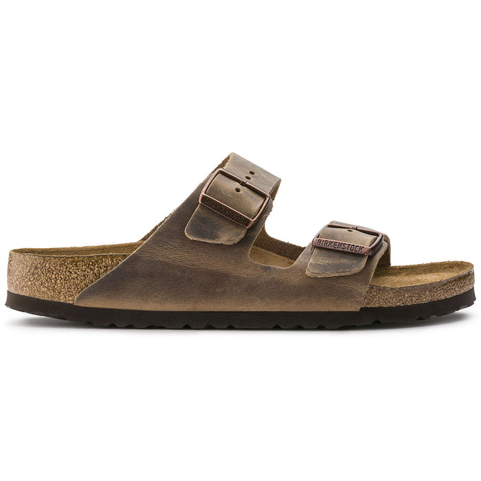Birkenstock Arizona Soft Footbed Tobacco Brown Oiled Nubuck Leather Unisex - danformshoesvt