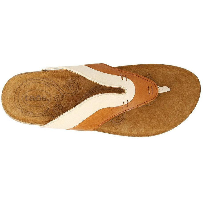 TAOS SUN QUEEN COGNAC/OFF WHITE Sandals Taos