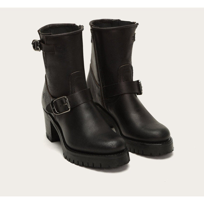 FRYE SABRINA MOTO ENGINEER BLACK AND CHOCOLATE - FINAL SALE! Boots Frye