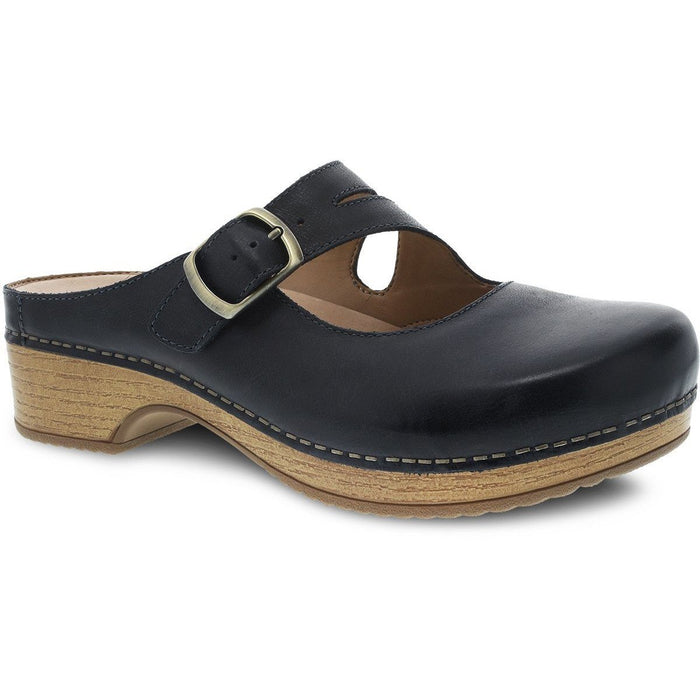 Dansko Britney Navy Waxy Burnished - danformshoesvt