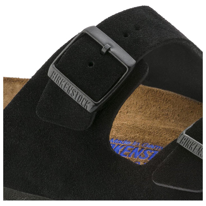 Birkenstock Arizona Soft Footbed Black Suede Leather Unisex - danformshoesvt