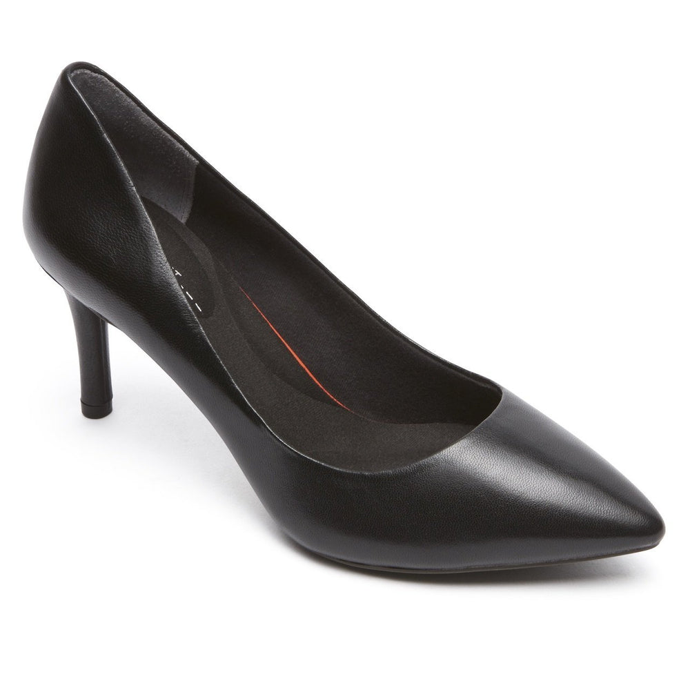 ROCKPORT TOTAL MOTION POINTED TOE PUMP BLACK MEDIUM AND WIDE - no features Heels Rockport
