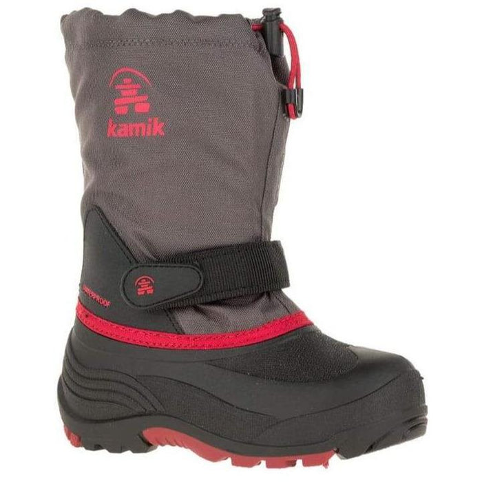 KAMIK WATERBUG5 LITTLE KIDS CHARCOAL/RED - FINAL SALE! Boots Kamik