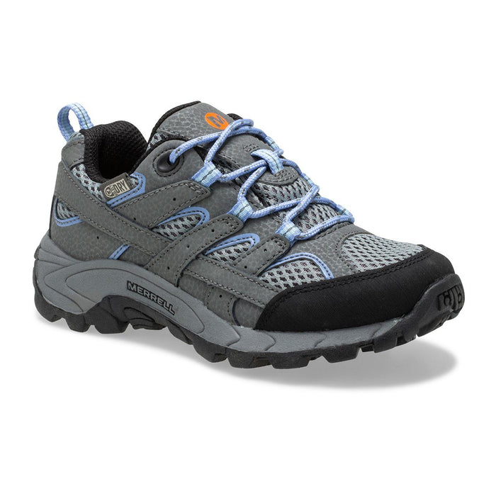 MERRELL MOAB 2 WATERPROOF KIDS MEDIUM AND WIDE Sneakers & Athletic Shoes Merrell GRY/PERIWINKLE 10.5 M