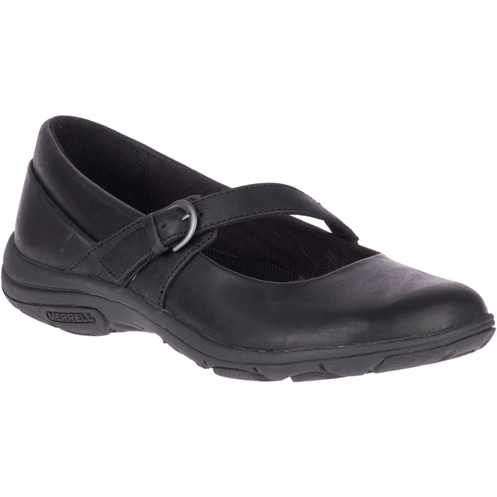 MERRELL DASSIE ERIN MJ LEATHER BLACK Flats Merrell