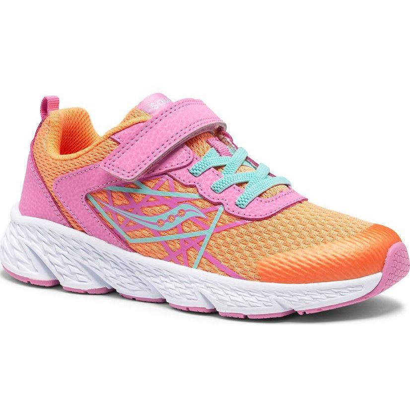 SAUCONY WIND A/C SNEAKER KID'S - missing other colorway Sneakers & Athletic Shoes Saucony Kids PINK/CORAL 10.5 M