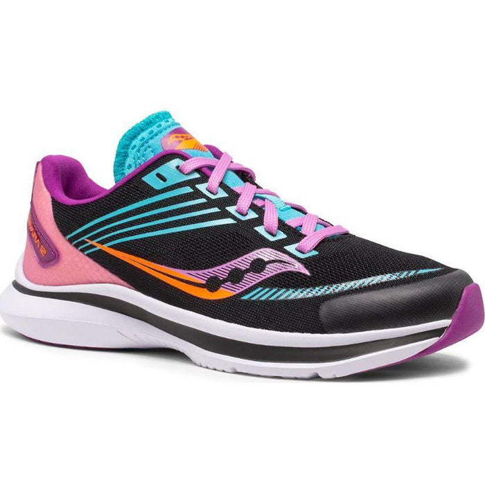 SAUCONY KINVARA 12 KIDS Sneakers & Athletic Shoes Saucony Kids BLACK/PINK 10.5 M