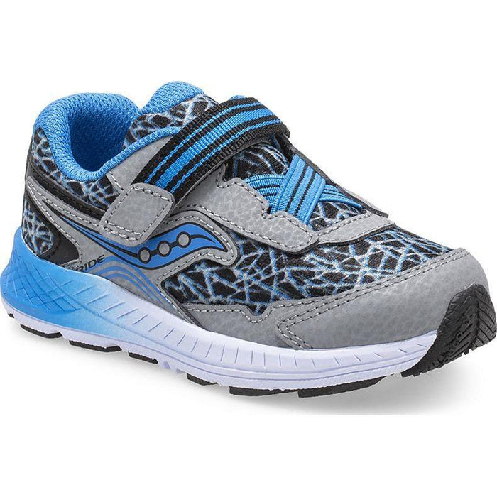 SAUCONY RIDE 10 JR INFANT'S SHOES Saucony Kids GRY/BLU/BLK 4 M