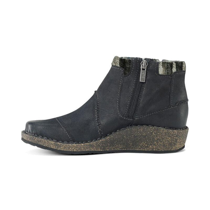 AETREX TESSA SHORT SWEATER ANKLE BOOT BLACK NUBUCK - FINAL SALE! Boots Aetrex