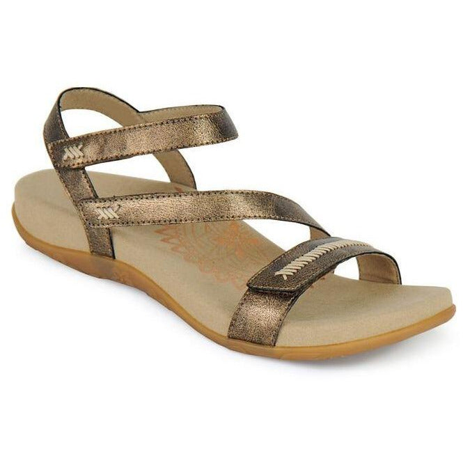 AETREX GABBY ADJUSTABLE QUARTER STRAP BRONZE Sandals Aetrex