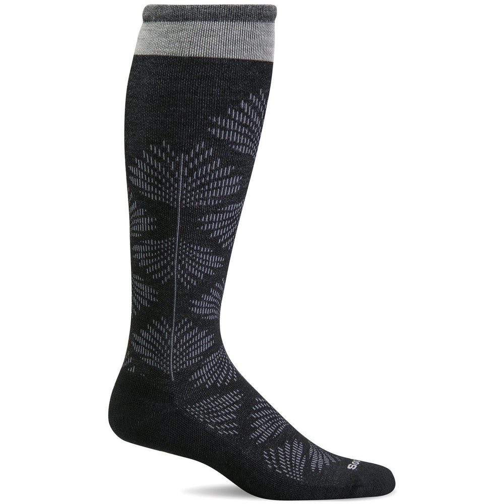 SOCKWELL FULL FLORAL WOMEN'S BLACK SOCKS SOCKWELL