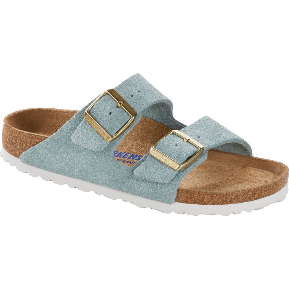 BIRKENSTOCK ARIZONA SOFT FOOTBED LIGHT BLUE SUEDE Sandals Birkenstock