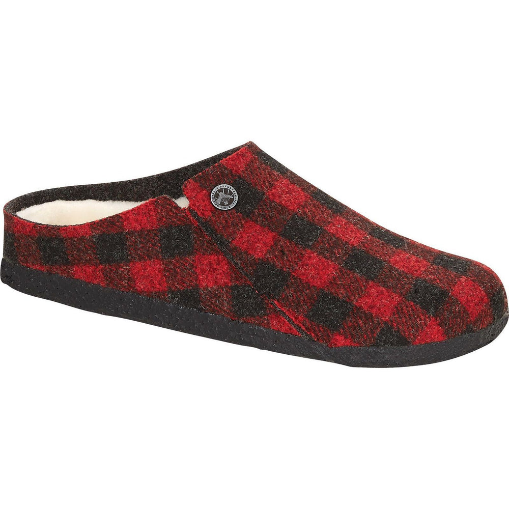 BIRKENSTOCK ZERMATT SHEARLING WOMEN'S PLAID RED NARROW FALL20 Slippers Birkenstock