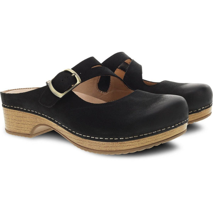 DANSKO BRITNEY BLACK BURNISHED NUBUCK - danformshoesvt
