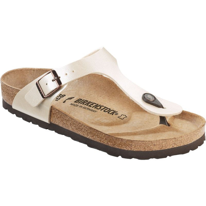 Birkenstock Gizeh Graceful Antique White Birki-Flor - danformshoesvt