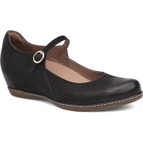 DANSKO LORALIE BLACK BURNISHED NUBUCK Heels Dansko