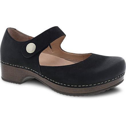 DANSKO BEATRICE BLACK BURNISHED NUBUCK Heels Dansko