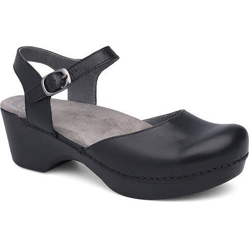 DANSKO SAM BLACK SOFT FULL GRAIN Sandals Dansko