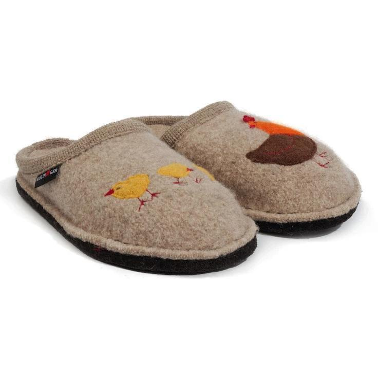 HAFLINGER GALLINA NATURAL Slippers Haflinger