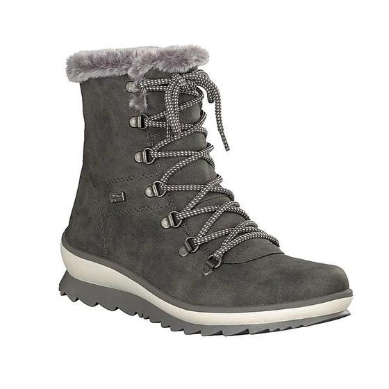 Details about Rieker Tex Men's Lace up Boots Shoes 45 Winter Warm Boots Brown Lined New