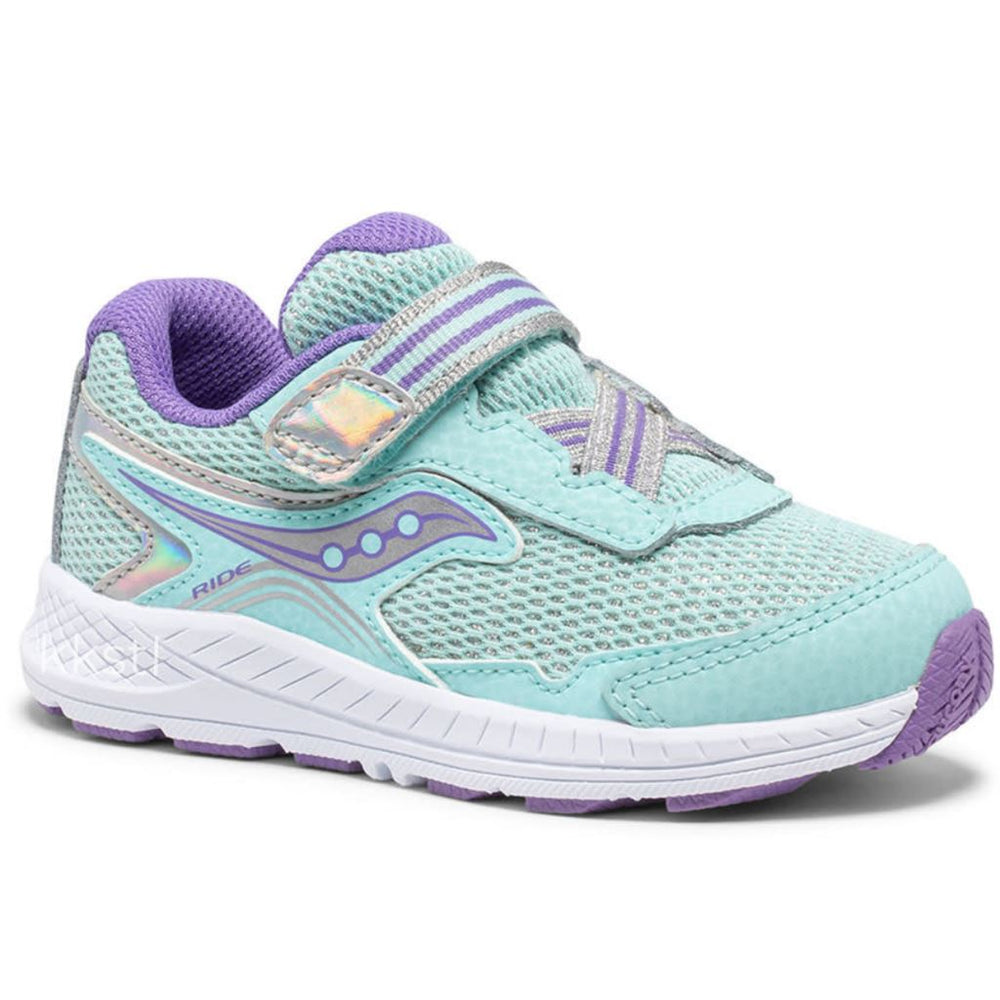SAUCONY RIDE 10 JR KID'S Sneakers & Athletic Shoes Saucony Kids TURQ 4 M