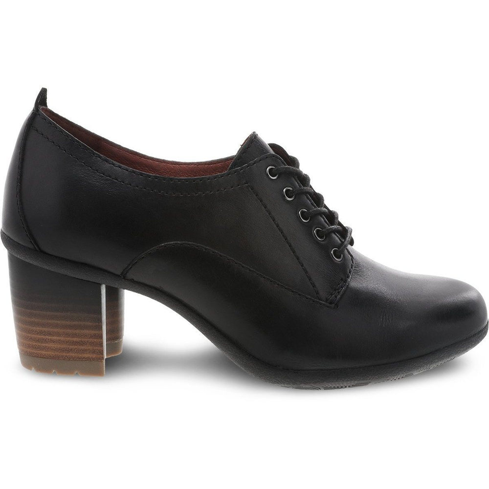 Dansko Pennie Black Waterproof Burnished - danformshoesvt