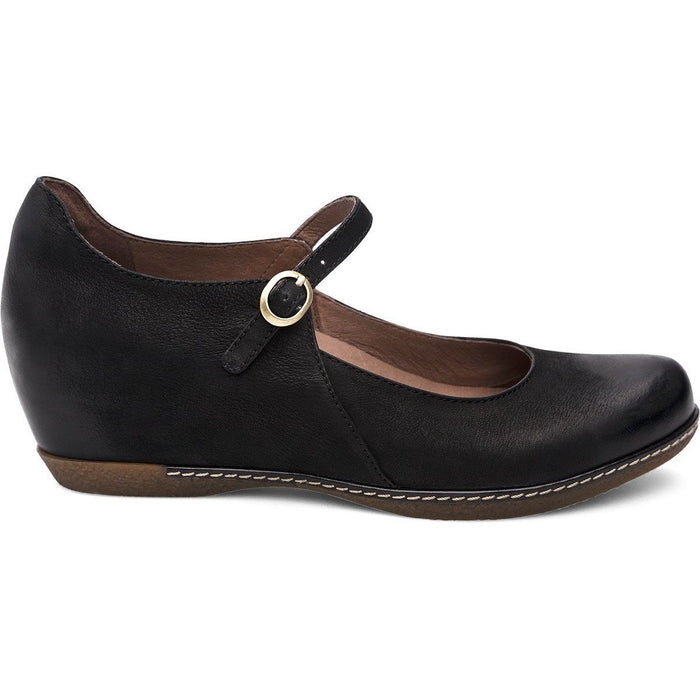 Dansko Loralie Black Burnished Nubuck - danformshoesvt