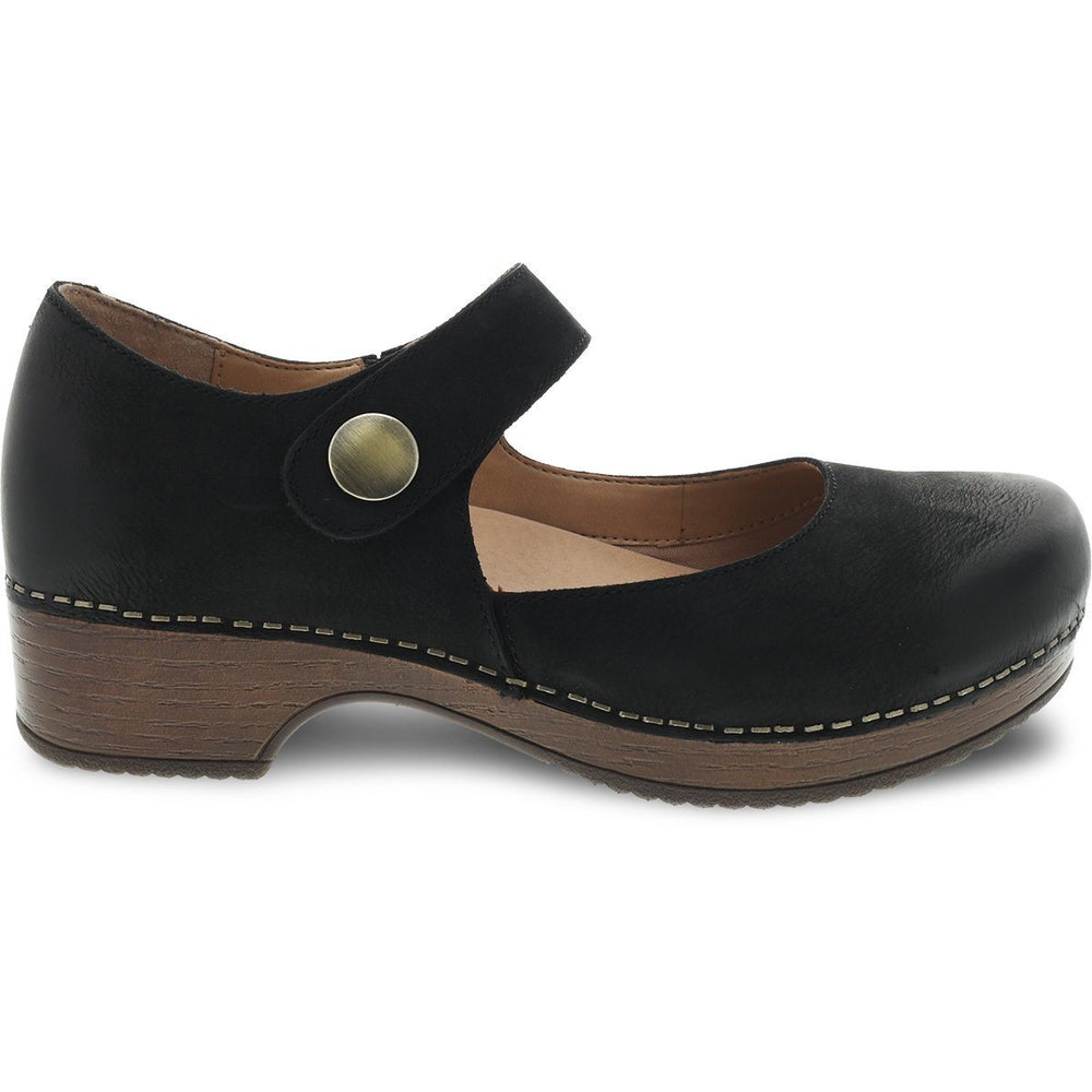DANSKO BEATRICE BLACK BURNISHED NUBUCK - danformshoesvt