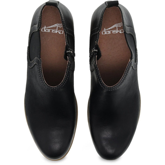 Dansko Harlene Black Waxy Burnished - danformshoesvt