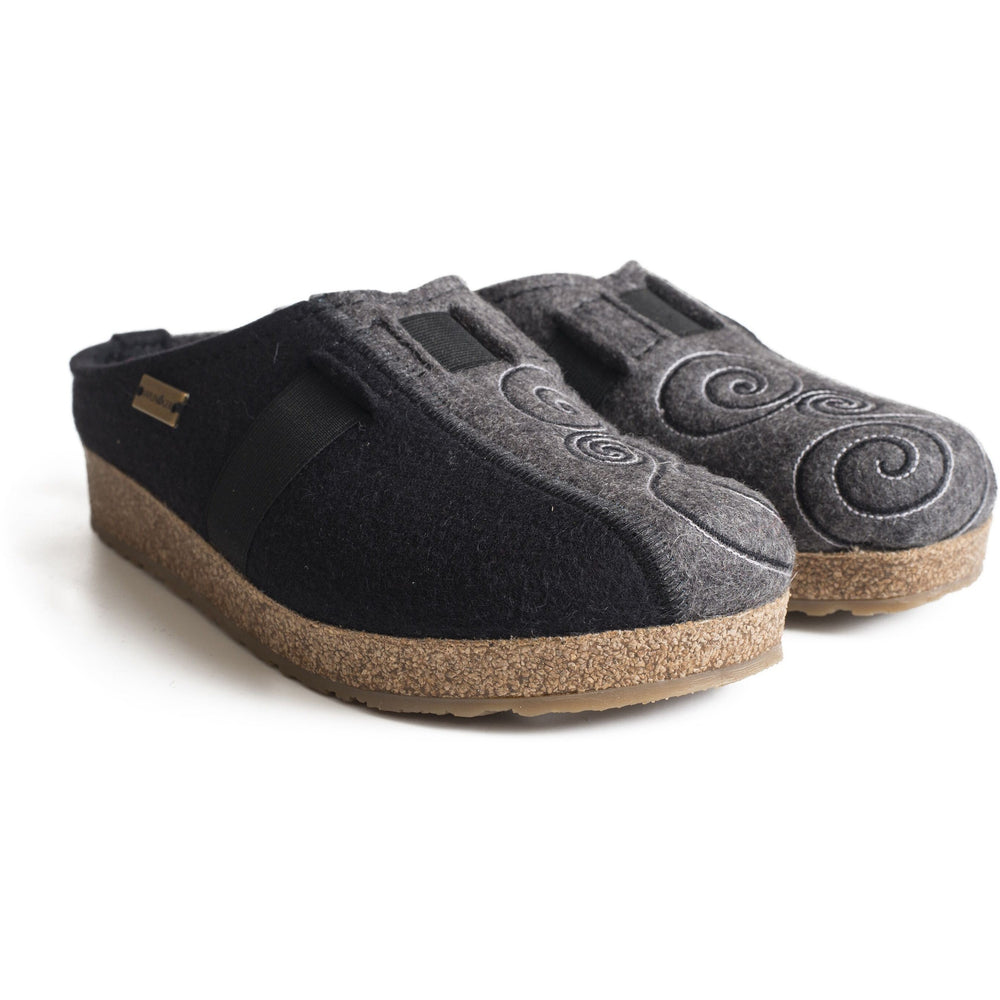 HAFLINGER MAGIC CLOG BLACK/GREY Clogs Haflinger