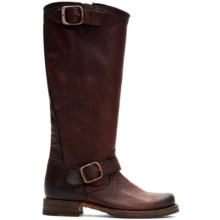 FRYE VERONICA SLOUCH BLACK AND CHOCOLATE - FINAL SALE! Boots Frye