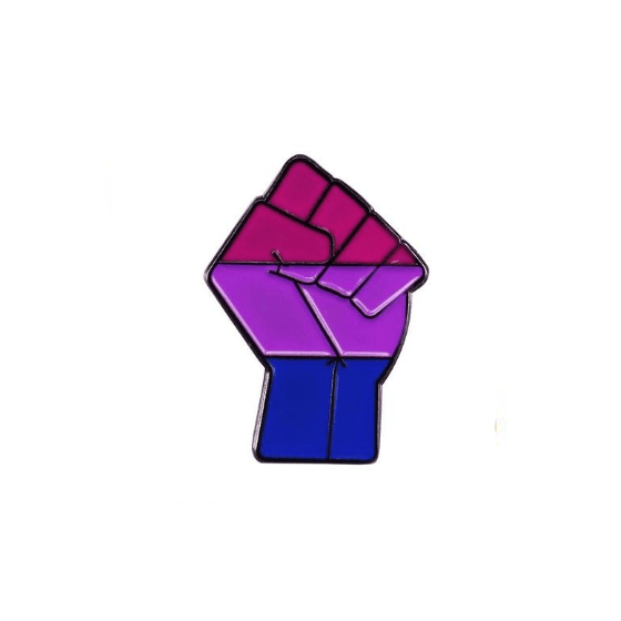 Bisexual Fist Pin