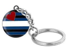Leather Pride Flag Keychain - PRIDEMODE