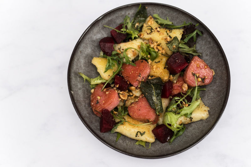 Gluten-Free Potato and Beetroot Gnocchi with Sage and Hazelnut Butter | Wholefood Earth®