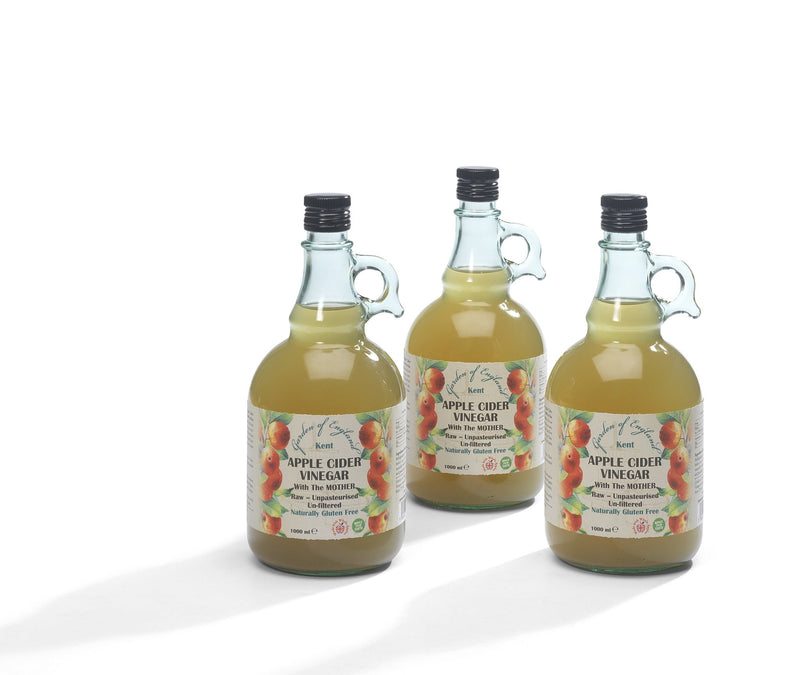 "Kent Apple Cider Vinegar 3 x 1L With ""Mother"" 