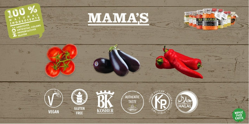 Mama's: Ajvar Hot Roasted Red Pepper Spread - 290g - Wholefood Earth® - 5310146002642